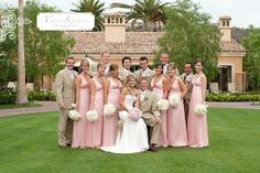 Pink green and tan weddings | Basically Bre: Wedding Wednesday