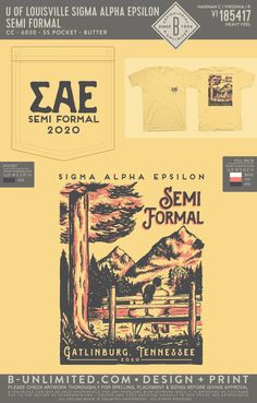 Sigma Alpha Epsilon Semi Formal Shirt | Fraternity Event | Greek Event #sigmaalphaepsilon #sae #semiformal
