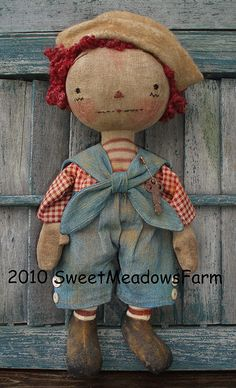 Primitive Raggedy EPATTERN Old Worn Antique by SweetMeadowsFarm