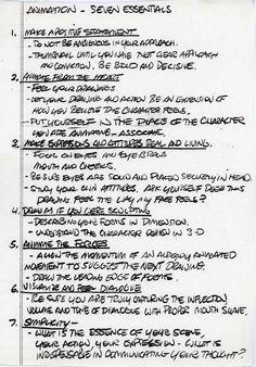 7 essentials for animarion by glen keane
