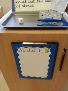Children can write their name/stick on their photo when they have completed the challenge.