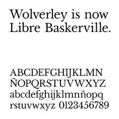 Libre Baskerville. Impallari Type
