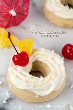 A bit of the tropics with this baked Pina Colada Donut | Cooking on the Front Burner