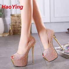 32.59$  Buy here - http://aliikd.shopchina.info/go.php?t=32597457311 - peep toe pumps party shoes women shoes high heels pumps paillette platform heels pink white wedding shoes sapato feminino D384  #aliexpresschina