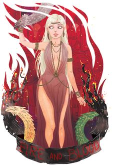 Daenerys Targaryen from A Song of Ice And Fire by George R. R. Martin. Illustration by Azim Al Ghussein.