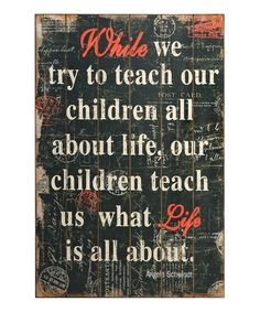 Look at this Life & Children Plaque on #zulily today!