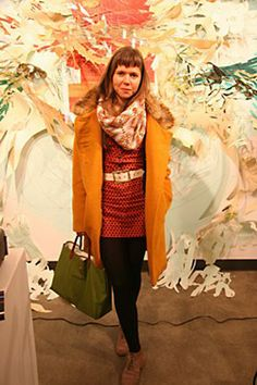 Austin Review Editor Tatiana Ryckman mixes patterns like a pro. She says everything is thrift or bargain except the coat, a gift from her mom. Can she be my mom, too?