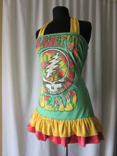 9b697804f2 Custom Made to Order Groovy Steal Your Face Grateful Dead Dress