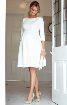 Sienna Maternity Dress Short Cream – Maternity Wedding Dresses, Evening Wear and Party Clothes by Tiffany Rose – Schwanger Kleidung Cute Maternity Outfits, Stylish Maternity, Pregnancy Outfits, Maternity Wear, Pregnancy Dress, Pregnancy Tips, Maternity Party Dresses, Pregnancy Fashion Dresses, Pregnancy Journal