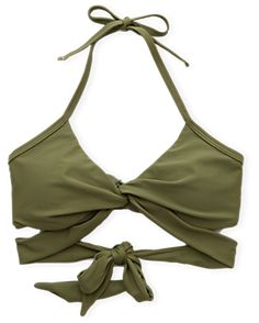 Aerie Wraparound Bikini Top , Olive | Aerie for American Eagle