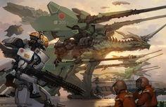 Download wallpaper robot,  Art,  War,  Dragons free desktop wallpaper in the resolution 4340x2820 — picture №570439