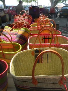 French market baskets from the Carpentras marché