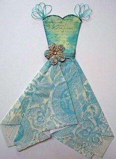 paper top; napkin skirt