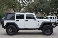 2011 Jeep Wrangler Unlimited Sport - Inventory - Select Jeeps Inc - Jeep Wranglers in League City, Texas White Jeep Wrangler, 2011 Jeep Wrangler, Wrangler Sport, Jeep Wrangler Unlimited, Cherokee, League City Texas, 4x4, Rough Country Suspension, Jeep Jeep