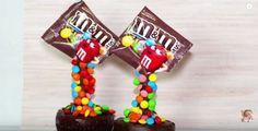 M&M Gravity Defying Cupcakes