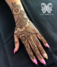 Top Simple Mehndi Designs - Easy-Peasy Yet Beautiful! Floral Henna Designs, Latest Bridal Mehndi Designs, Full Hand Mehndi Designs, Mehndi Designs For Fingers, Mehndi Designs For Beginners, Mehndi Designs For Girls, Mehndi Design Photos, Dulhan Mehndi Designs, Latest Mehndi Designs