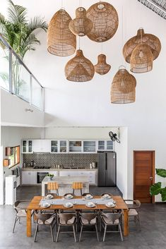 Villa JOJU- THE PERFECT FAMILY VILLA | Bali Interiors Rattan Lampe, Bali, Modern Tropical House, Casa Loft, Modern Interior, Interior Design, Tv In Bedroom, House Made, Furniture Design