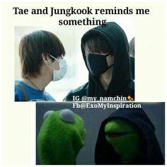 My namchin✨ #bts #bbmas #exo #kpop #meme Bts Bangtan Boy, Bts Boys, Seokjin, Namjoon, Taehyung, Bts Memes Hilarious, About Bts, Bts Group, Taekook