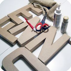 a few different dyi letters
