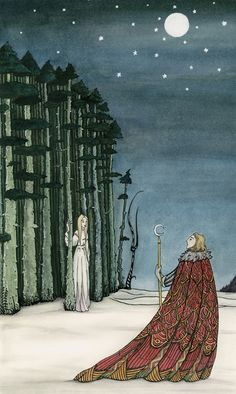 homage to Kay! From the Forest (Homage to Kay Nielsen) 2013 - Caitlin Hogan Illustration Kay Nielsen, Art And Illustration, Fairy Tale Illustrations, Food Illustrations, Botanical Illustration, Chris Riddell, Illustrator, Harry Clarke, Edmund Dulac