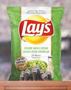 Creamy Garlic Caesar is running to be the next great Lay's® Canada chip. Cast your Vote and Do Us a Flavour!™