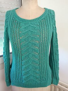 Ravelry: penelopeia's Pull ajouré femme - Wish I could find this Phildar pattern ... until then, I'm guessing I'll have to #reverseengineer ... 29 pull 069 - T11-595 by Phildar Design Team published in Phildar No. 69 Collection Printemps-été 2012