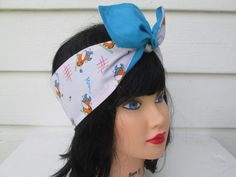 Gorgeous Hairband Ready to ship This REVERSIBLE hair scarf is made of two different color fabrics. You can wear it either way  Moo Dairy Farm Cow