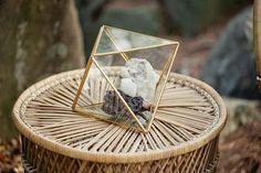 How to Throw a Rocking Geology Themed Wedding - terrarium