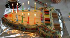 Eine Raketentorte als Geburtstagskuchen - Lavendelblog