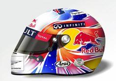 F1 Helmet for Marc Webber in Singapore GP