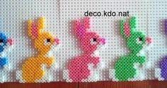Voici 2 modèles de petits lapin... a décliner dans toutes les couleurs!!!! pour ce modèle: 144 perles prix de vente terminé: 1.10€ l'unit...