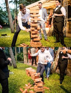 Giant Jenga is a great game for all of your guests