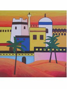 Arab Town by Pepponi  @sunsan #Arabia #painting #art
