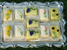 pretty petit fours - love these