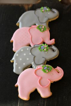 Baby elephant cookies by cmv1959