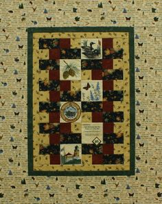 Silver Lane Quilting's annual wallhanging, commemorative patch and commemorative lapel pin.