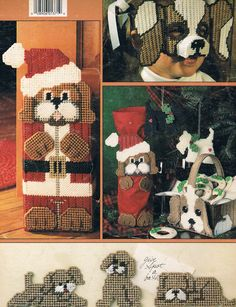 PUPPY TIME IN PLASTIC CANVAS by CAROLE L. RODGERS 11/11