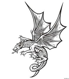 Scary Dragon Coloring Pages from Dragon Coloring Pages For