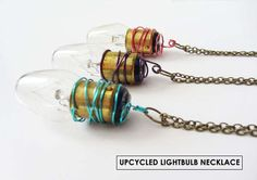 This #Necklace Makes Use a Burnt Out Bulb as a #Statement Piece trendhunter.com