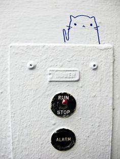 Art School Graffiti #52: (elevatorcat)  Micah Beree Tumblr