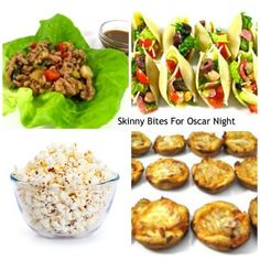 Skinny Bites for Oscar Night! I'm sharing 12 really easy, super yummy, skinny bites to choose from. And the evening wouldn't be complete without popcorn so I've included a classic popped in olive oil and sweet kettle corn. Have fun! http://www.skinnykitchen.com/recipes/skinny-bites-for-oscar-night/