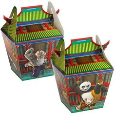 KUNG FU PANDA ~ (4) Party Favor TREAT BOXES ~ Birthday Party Supply Decoration in Home & Garden, Greeting Cards & Party Supply, Party Supplies   eBay