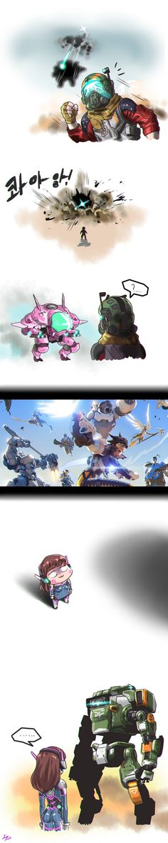overwatch, Titanfall crossover, d. Overwatch Story, Overwatch Comic, Overwatch Memes, Funny Gaming Memes, Gamer Humor, Funny Games, Video Game Art, Geek Culture, Funny Comics