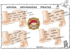 adivinanzas de piratas para niños - Buscar con Google Image News, Pirate Birthday, Escape Room, Best Part Of Me, Rally, The Creator, Place Card Holders, Education, Kids