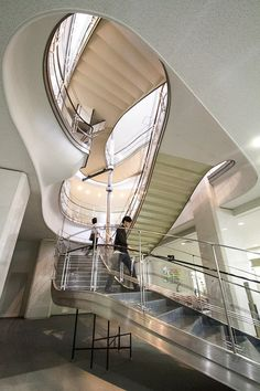 Staircase in Meguro Ward Office (arch. Togo Murano)