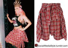 Buy Nicki Minaj's Coachella Plaid Shorts, here!