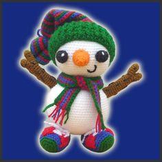 Amigurumi Pattern Crochet  Frosty the Snowman door DeliciousCrochet