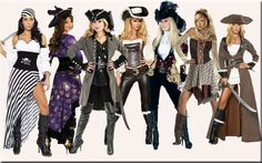 Pirate Costumes For Women--that black & white skirt!!!!