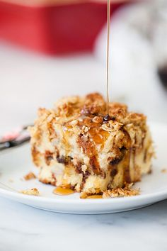 Baked French Toast with Banana and Chocolate Chips | foodiecrush.com