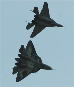 Sukhoi's T-50 PAK-FA fighter made its second public appearance